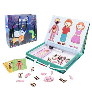 UCMD Children Early Education Toys Magnetic Human Body Parts Puzzle