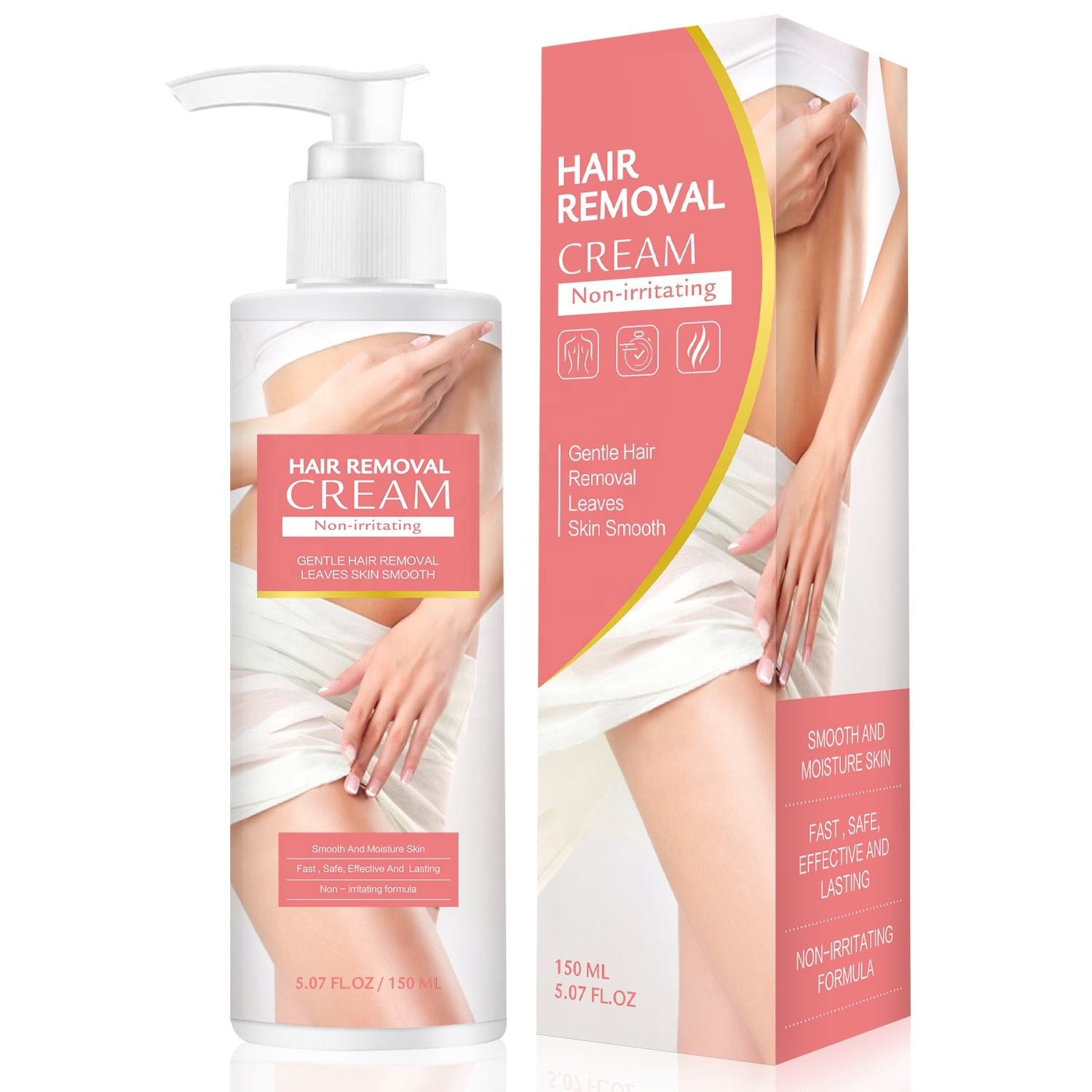 Effective Non-irritating Hair Removal Cream Fast Remove Unwanted Body Hair in 5 minutes Depilatory Cream 150ml