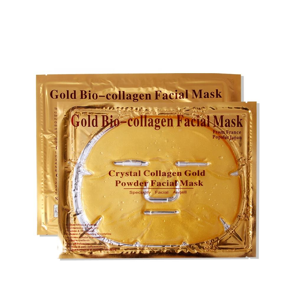 Hot selling factory ditect sales 24k golden collagen facial mask for face care