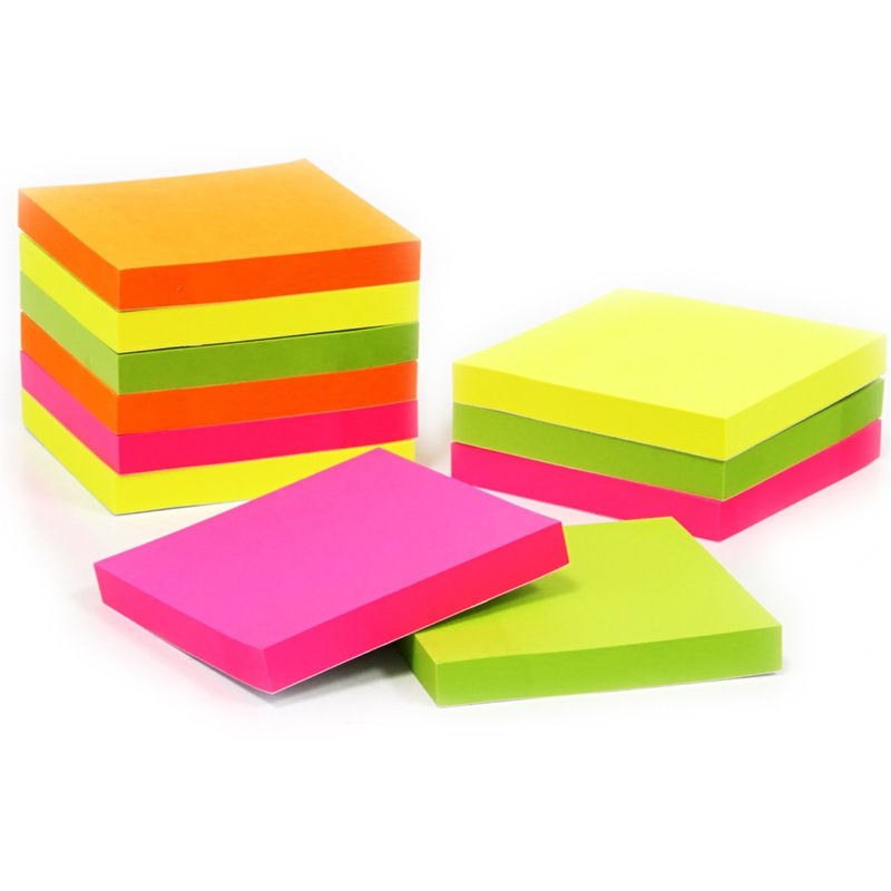 Top Quality Customized Promotion 4 color offset printing Paper Post Notes wood free Paper Sticky notes Memo Pad
