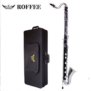 เครื่องดนตรี Ebonywood body Silver plated Key Low C Bass clarinet