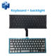 New Various language versions A1369 A1466 Keyboard with backlight for Macbook Air 13