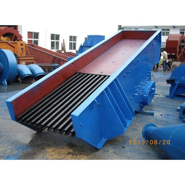 high wear-resistant lining plate stone rock vibrating feeder