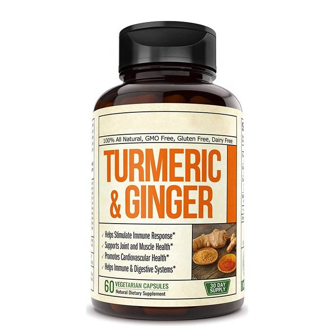 Organic Turmeric Curcumin with Acai Berry Powder Supplement 60 Capsules
