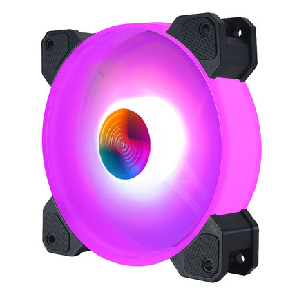 Quiet Computer LED RGB Case Fan with Controller for Gaming PC Computer 3PIN 4PIN 6PIN