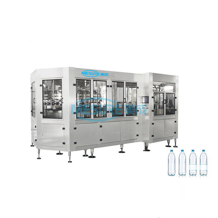 MESURE machine factory supply 12000 bph water filling machine / 3 in 1 bottle water filling system / mineral water plant project