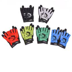 New Product 6 Colors Anti-skid Point Design Comfortable Performance  Fishing Gloves with Breathable Material