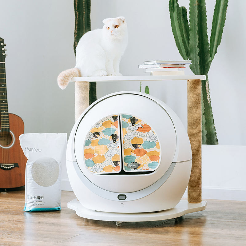 Petree Brand Official automatic self clean cat litter box with cat litter mat