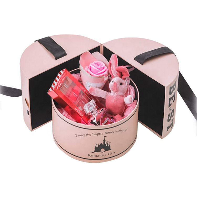 Wedding Round Tube Cylinder Packaging paper Gift Boxes For Flowers candy Rose Floral Cupcake Bouquet Box