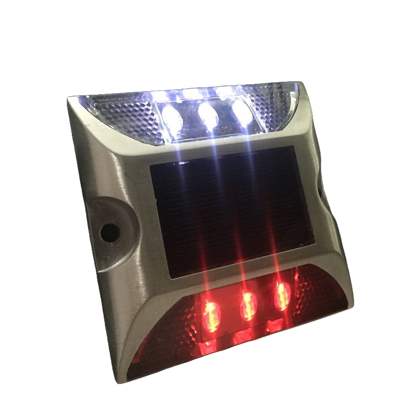 Manufacture price driveway highway outdoor led flashing light aluminum road marker solar road stud cat eye