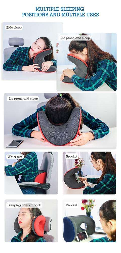 Colorful Airplane Car Office Anti Snore Travel Memory Foam Power Nap Neck Rest Pillow