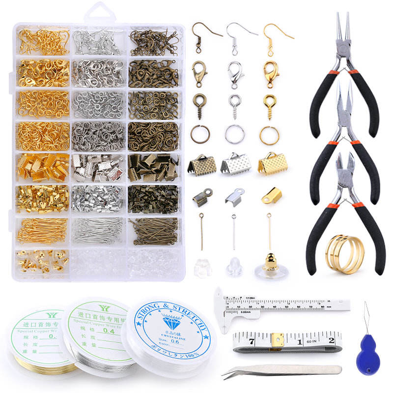 Alloy Set Horse Clip Clasp / Lobster Clasp / Open Jump Rings Jewelry Making Supplies Kit for DIY Jewelry Making Accessories