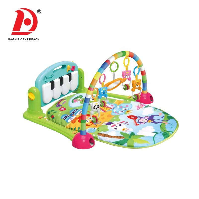 High Quality Cheap Toddler Floor Crawling Activity Gym Rug Toy Foldable Soft Baby Musical Piano Play Mat