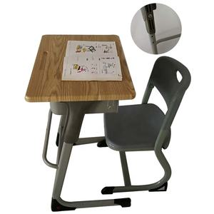 Middle adjustable plastic school desk and chair kids chair for school