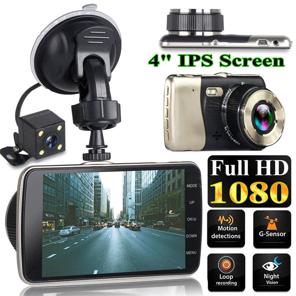 "Auto <span class=keywords><strong>Dvr</strong></span> Dash Camera Achteruitrijcamera Dual Camera Video 1080P Full Hd 3.6 ""Cyclus Opname Nachtzicht G-Sensor Groothoek Dasand Na"