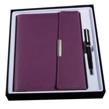 Hot trending A5 Purple Gift Sets 3 Folding High-grade Business Weekly Planner Cover Custom Agenda Luxury Notebook