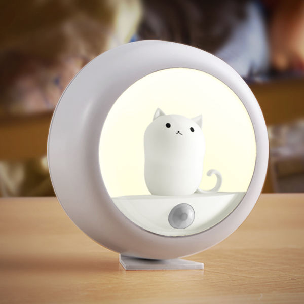 Color Changing Led Lights Soft Silicone Cute Kitty Baby Children Kids Nursery Led Night Light Lamp