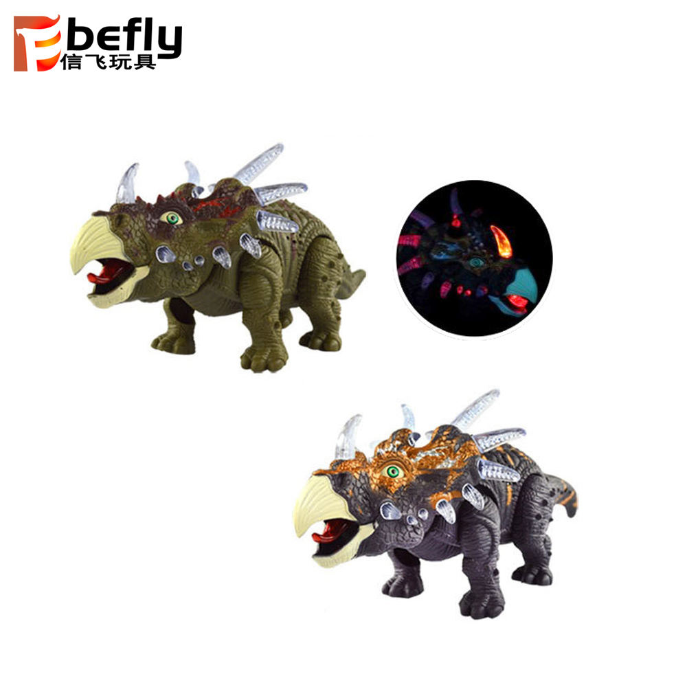 Small Triceratops model plastic b o dinosaur toy