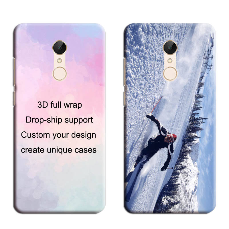 2019 Best Custom Hotsale luxury free sample and High Quality case for Redmi 5 plus 3D Plastic Printing Protective Covers