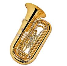 Accept OEM Factory Price Cheap Bb Gold Tuba 4 Rotary Children JYTU0746