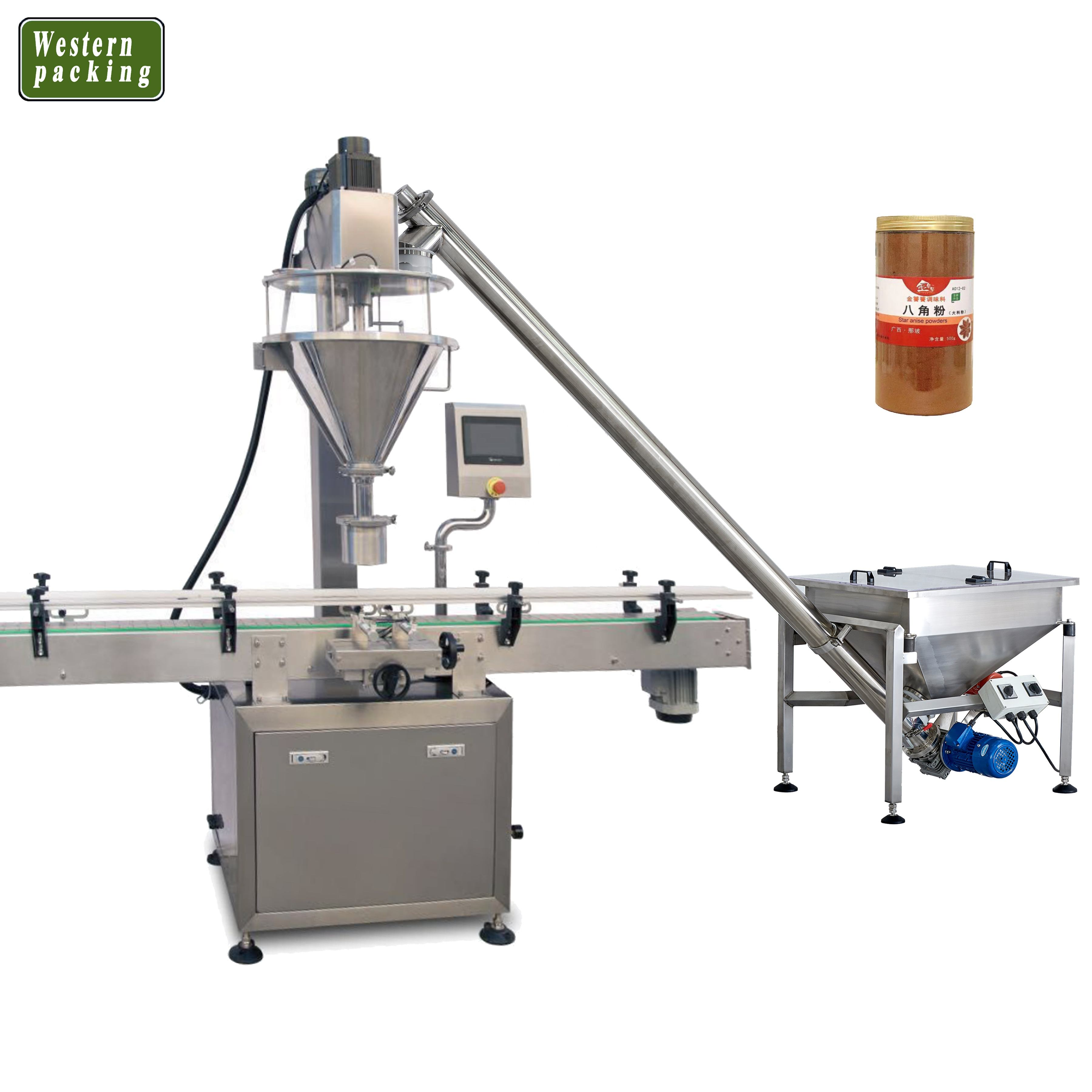 automatic powder filling machine jar