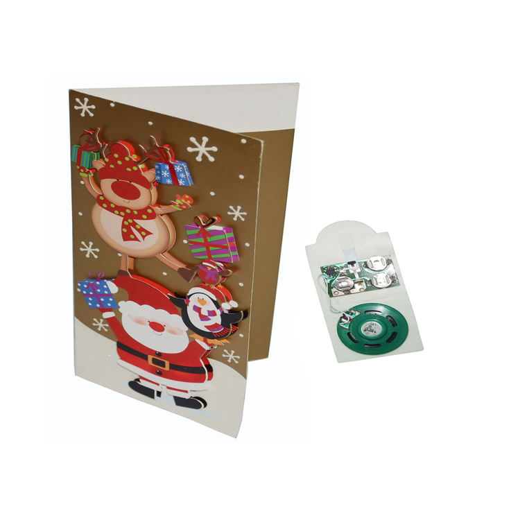 Wholesale Customize high quality voice recording sound module personalized music greeting cards for gifts