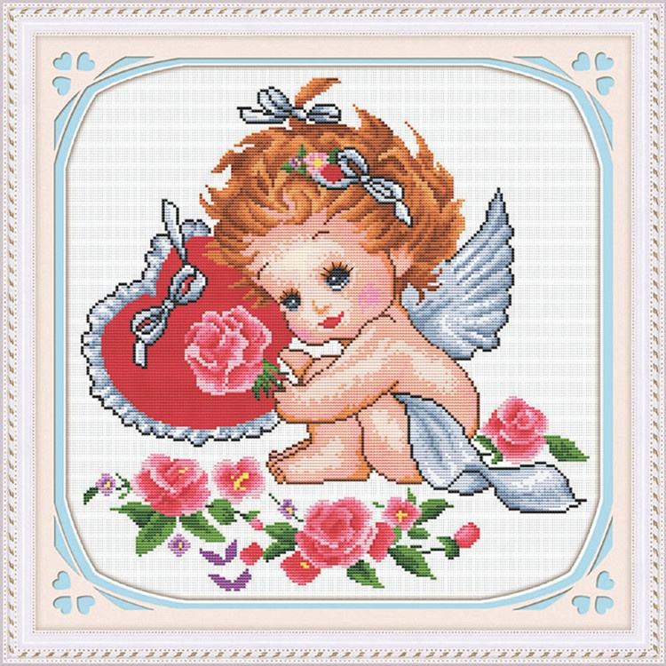 Lovely Baby Flower Pattern Needlework Sewing On Cross Stitch Painting DIY Embroidery Kit