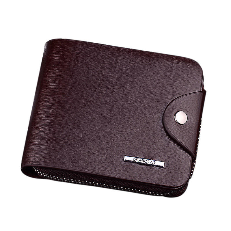 Leather Small Mens Wallet With Zipper