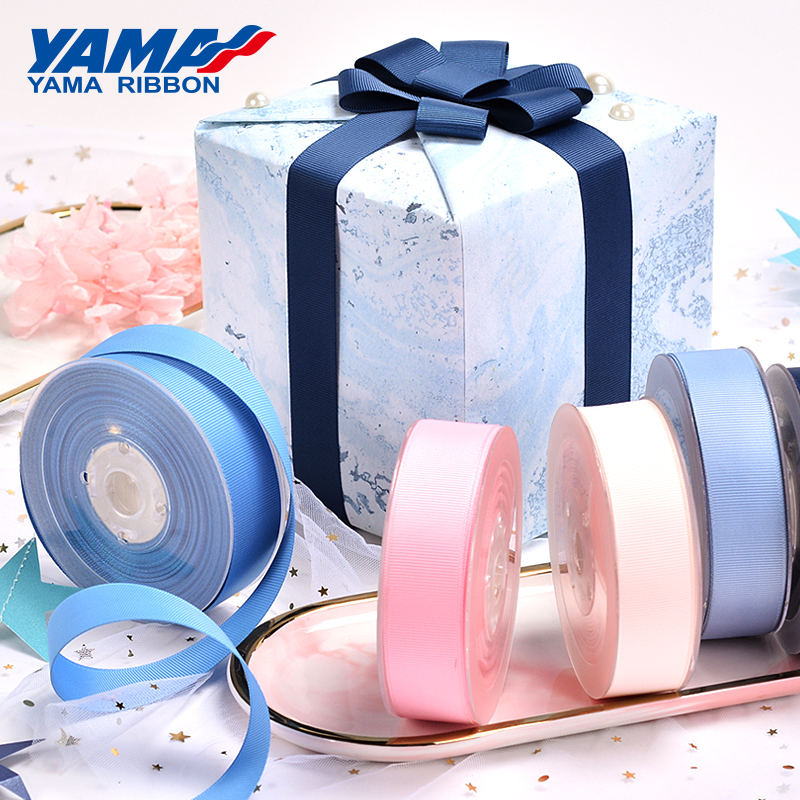 YAMA Factory 196 Colors 3-100 MM Width Stocked Polyester Solid Color Grosgrain Ribbon