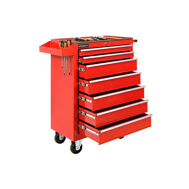 Popular in Germany heavy duty roller steel tool box 7 drawer tool trolley with best price