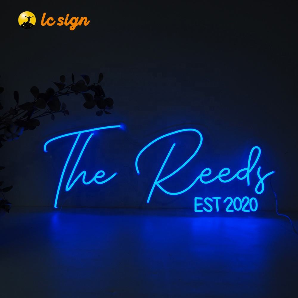 Customized led neon sign waterproof luminous acrylic led rgb colorful letters advertising for bulb