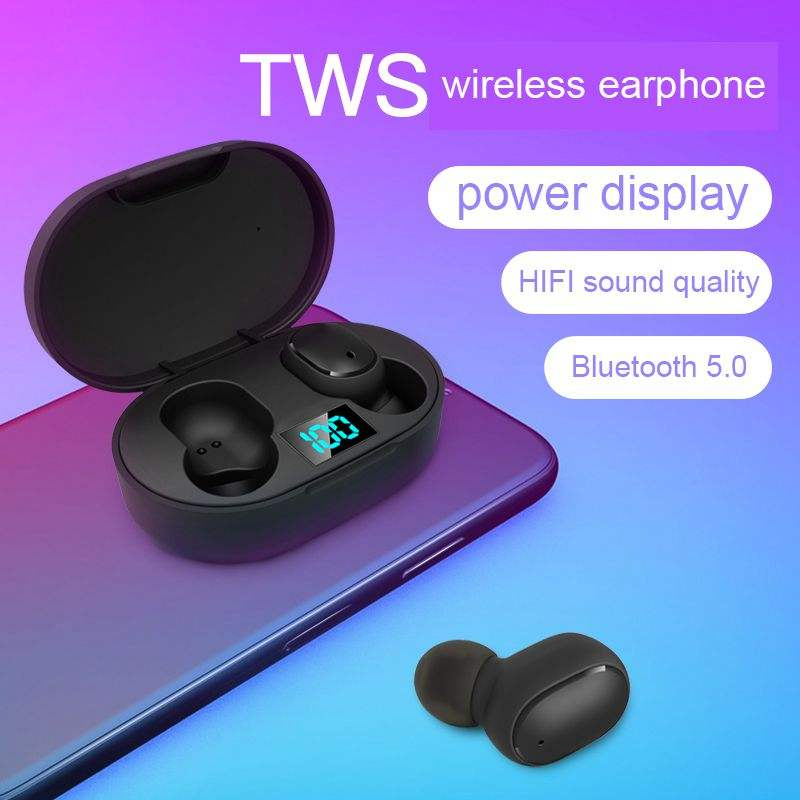 Wholesale OEM power display Blue tooth wireless earphone buds TWS E6S wireless earbuds Headphone For iphone Android