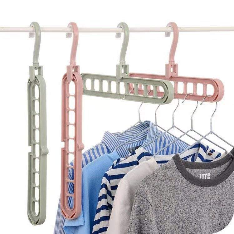 9 in 1 Plastic Closet Space Saving Folding Home Storage Racks Travel Magic Creative Clothes Hanger