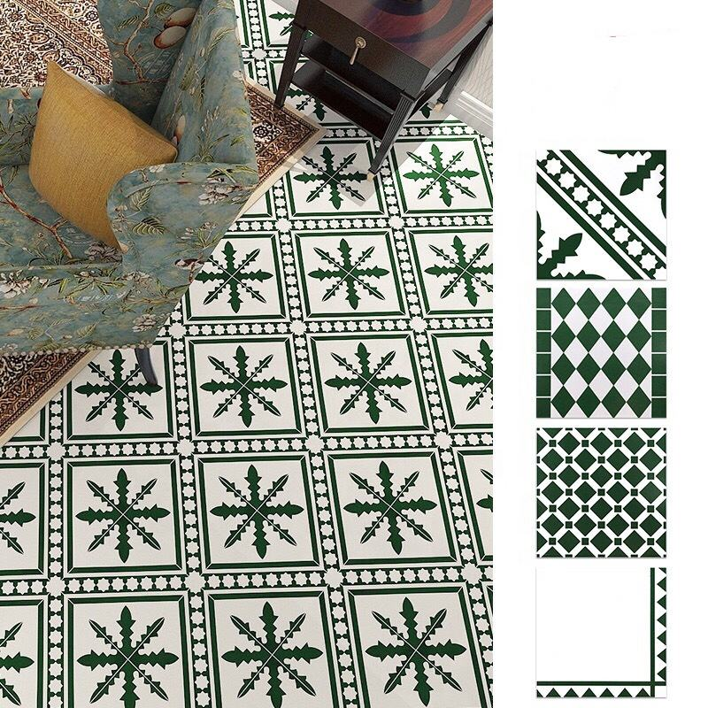 Moroccan Dark Green 300 * 300 Non- Slip Retro Living Room Hotel Wall And Floor Tiles