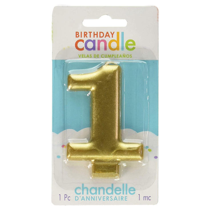 Vietnam Candle Factory Funny Birthday Gold number Candle