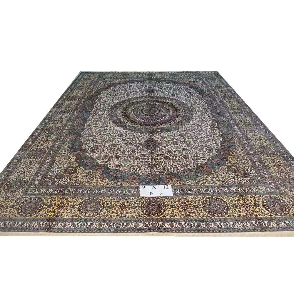 Reliable China Handmade Carpet Factory 9x12 ft Many Sizes and Designs Persian Handmade Silk Carpet from Henan