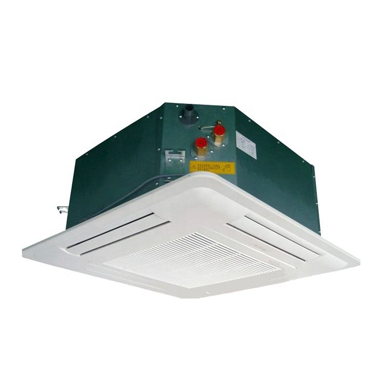 Sertifikasi CE Kinerja Tinggi Suku Air Dingin Horizontal 4way Air Ceiling Cassette Fcu Fan Coil Unit