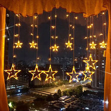 Wholesale Christmas Decoration Fairy Twinkle Star Led String Curtain Lights