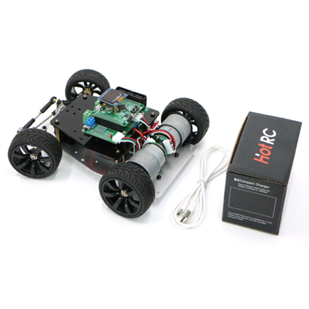 STM32 High-Version smart car chassis Steering gear DIY 4wd car rear drive motor PS2 control CCD electromagnetic patrol line
