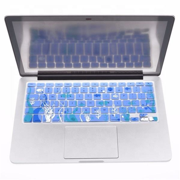 Colorful Laptop Keyboard Cover Custom Eco-friendly High-tech Colorful Ultra-soft Laptop Keyboard Silicone Anti-dust Cover