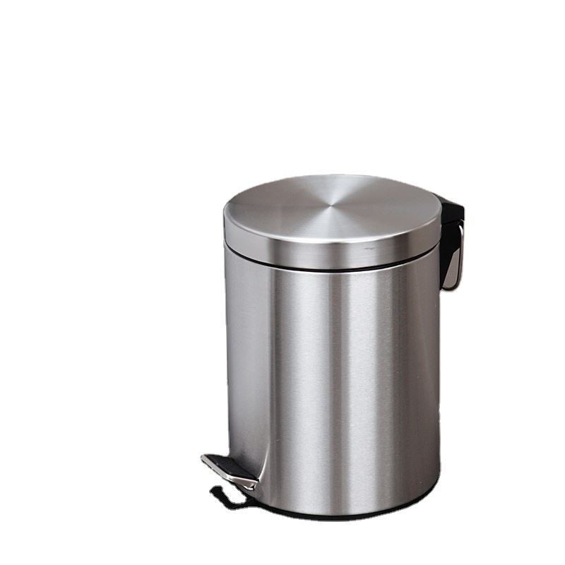 Hot selling stainless steel dust bin PP bucket Home Use Foot Pedal Trash Can