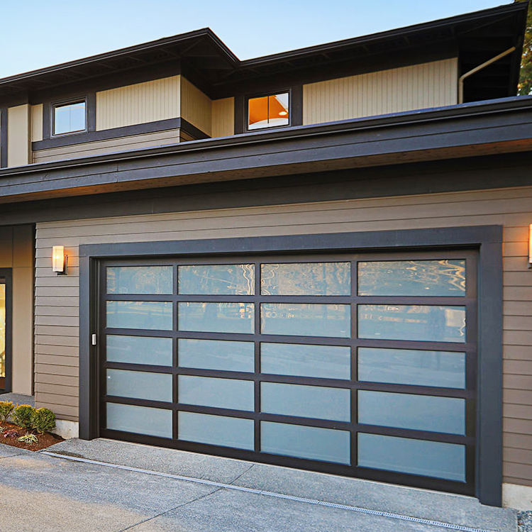 DiYou Automatic Customized Size Glass Panel Garage Door