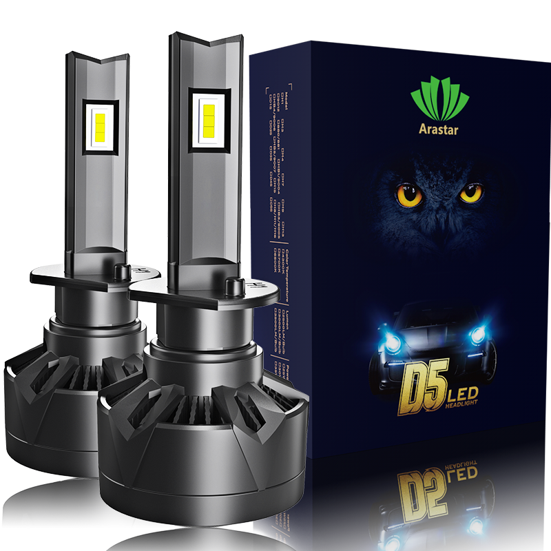 LED Headlight Bulbs High Low Beam, Combo Package CSP Led Chips Hi/Lo lights - 6000K White 100w 11000lm IP68 Auto LED Headlights
