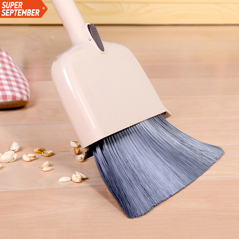 BOOMJOY Household Cleaning Brush Set Y3 Multi use Folding hand Broom And Dustpan Set Plastic Broom Handle With Broom Brush