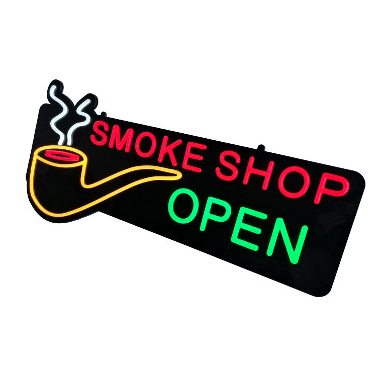 Business Decoration Wall Hanging Shop Front Logo Open Signage Board Custom Acrylic 3d Led Letter Neon Light Electronic Sign