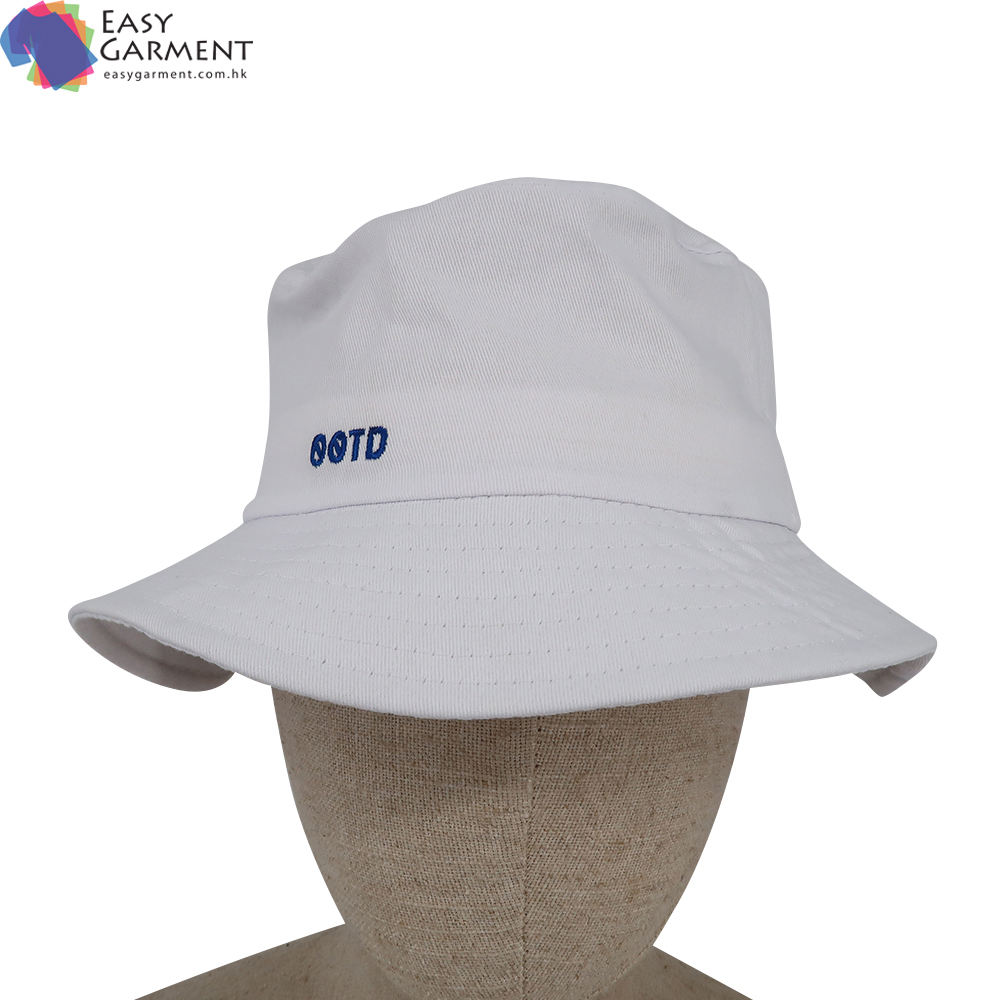 Custom Made Man 3D Embroidered Dri Fit Running White Bucket Hat For Dancing