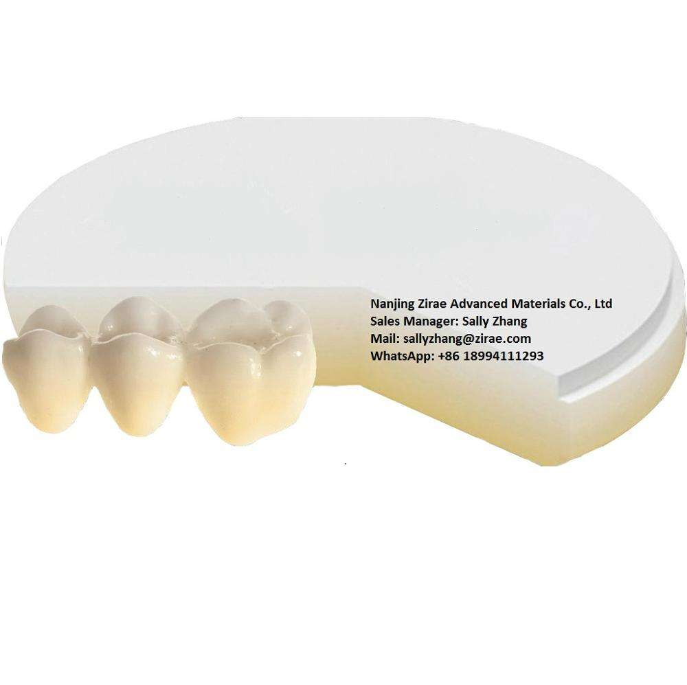 3D Preshaded Multilayer 6 layers gradient zirconia blocks/blanks/discs for ceramic dental restorations