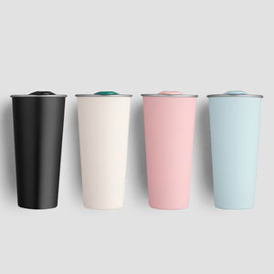 New Fashion 500 ML Custom logo 304 Stainless Steel Double Wall Insulated travel coffee tumbler cup with Lid