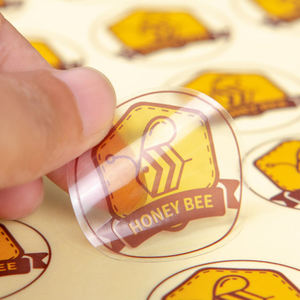 China Supplier Custom Round Transparent Clear Plastic Vinyl Foil Stickers Label Logo Printing