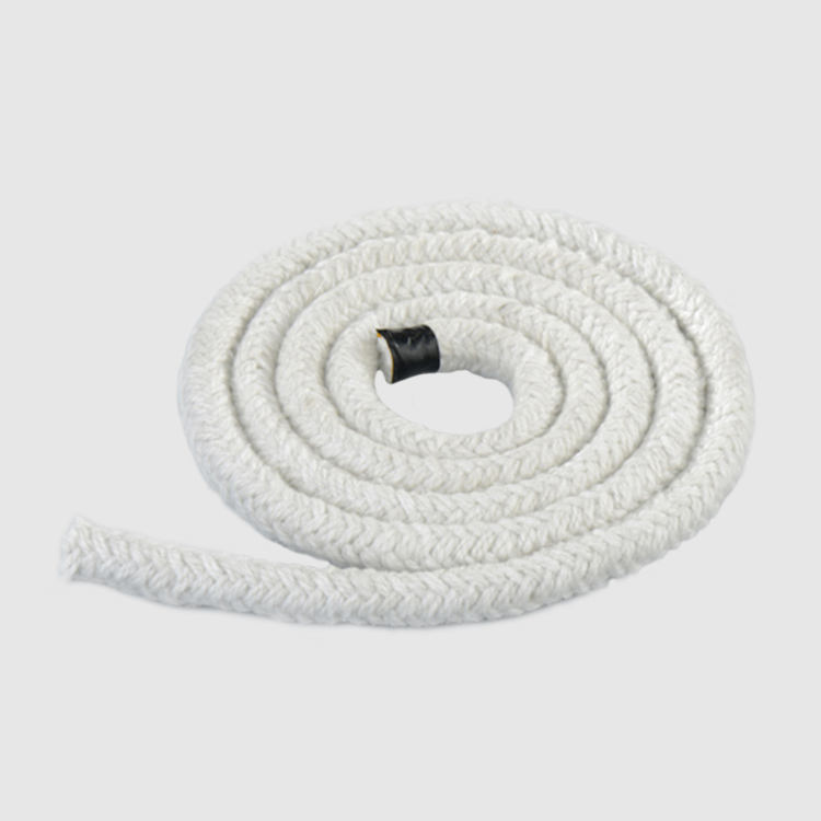 chinese factory ceramic fiber insulation rope braided ceramic fiber rope for oven